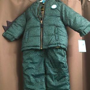 BNWT infant dinosaur snow suit- Carters